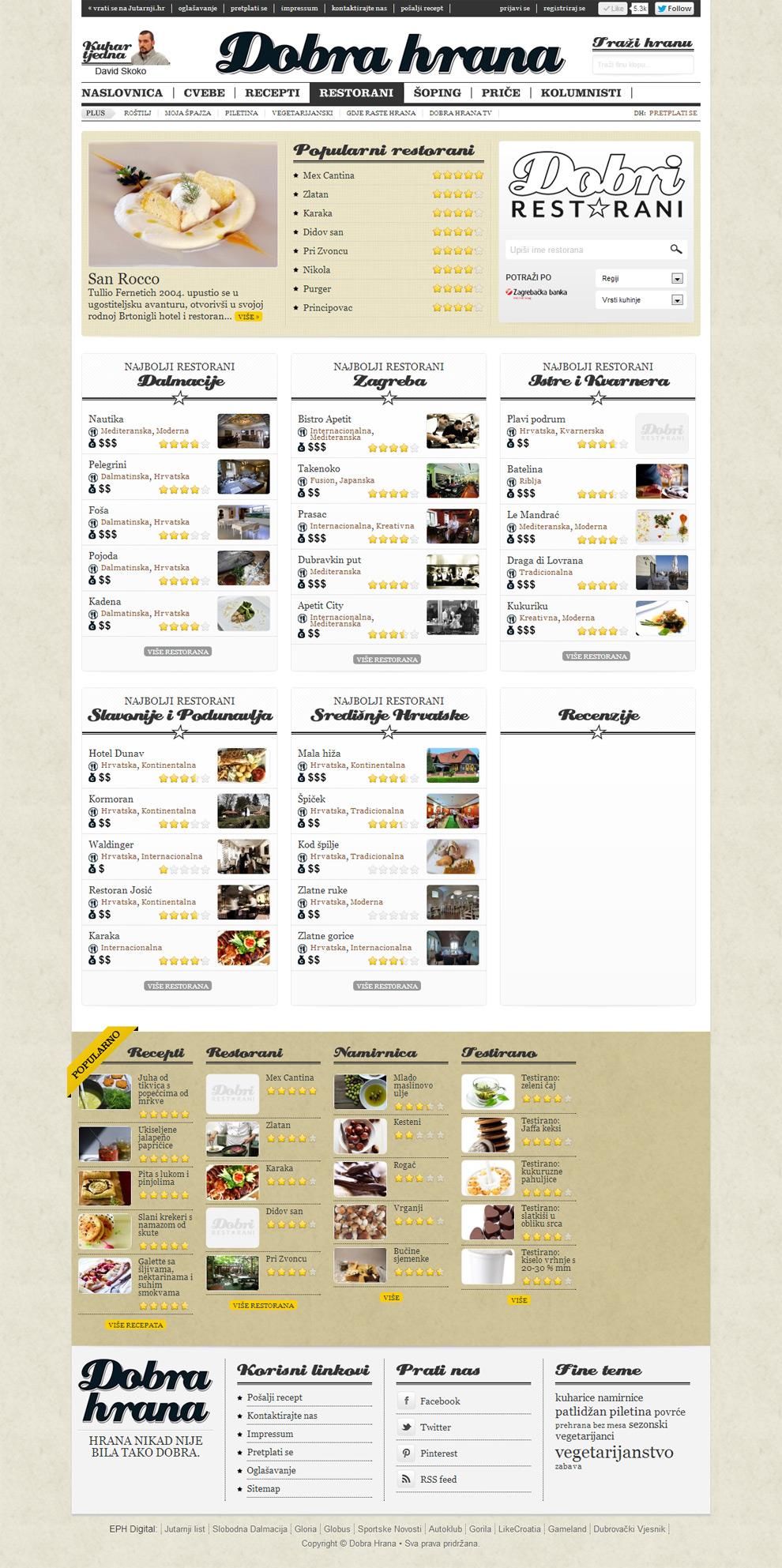 Rrestaurants page